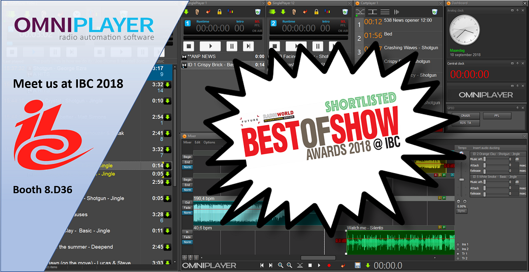 OmniPlayer 3 Best Of Show Awards á L'IBC 2018