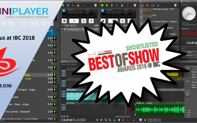 OmniPlayer 3 is proudly shortlisted in the Radio World International Best of Show Awards at IBC2018